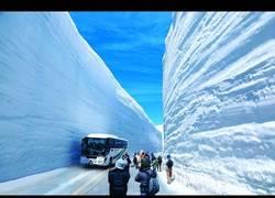 Enlace a Las mega máquinas que se usan para hacer camino a través de la nieve