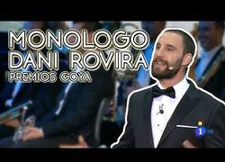 Enlace a El monólogo de Dani Rovira en los premios Goya que no dejó indiferente a nadie