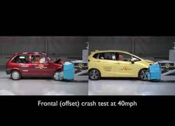 Enlace a El gran avance de estos dos coches en un accidente: Honda Jazz vs Rover 100