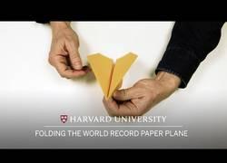 Enlace a Así se hace el avión de papel que tiene el Récord Guinness al recorrer 60 metros