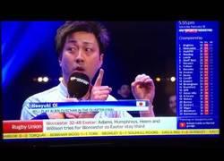 Enlace a La genial entrevista de este japonés tras una partida de billar