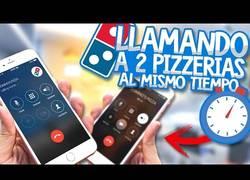 Enlace a Broma: Llama a dos pizzerias domino's al mismo tiempo
