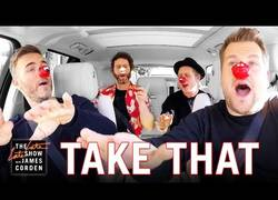 Enlace a Los míticos Take That visitan la Carpool de James Corden y se lo pasan en grande