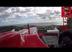 Enlace a La atracción principal de Ferrari Land, vista desde dentro