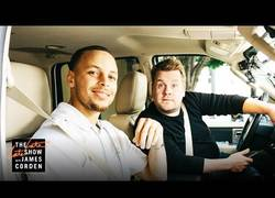 Enlace a Stephen Curry se sube al Carpool de James Corden para cantar Frozen