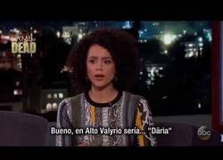 Enlace a Nathalie Emmanuel habla de Game of Thrones en Jimmy Kimmel