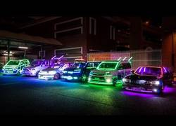 Enlace a Una de las concentraciones de coches tuneados que se hacen en Japón