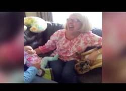 Enlace a Los celos de este perro al ver como quieren coger al bebé y no a él :(