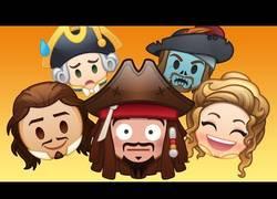 Enlace a Recrean la historia de 'Piratas del Caribe' con emojis