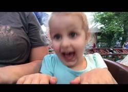 Enlace a La épica reacción de esta niña de tres años al subirse por primera vez en una montaña rusa