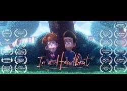 Enlace a In a Heartbeat, el corto de animación sobre el primer amor entre dos chicos que rompe esquemas