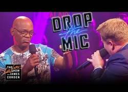 Enlace a Batalla de rap con un claro ganador: el legendario Samuel L. Jackson contra James Corden
