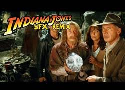 Enlace a Todos los efectos de sonido de Indiana Jones en un remix ideal para escuchar en el gimnasio