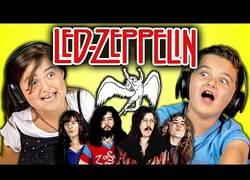 Enlace a Niños reaccionando a las canciones de los míticos Led Zeppelin