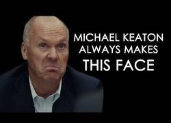 Enlace a Michael Keaton siempre hace la misma expresión en sus películas