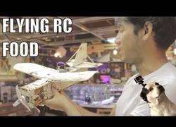 Enlace a Construyen un avión radio control con comida
