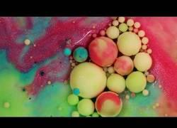 Enlace a Los increíbles efectos visuales que logras mezclando pintura acrílica con leche, jabón y aceite