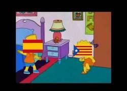 Enlace a Cataluña contra España, explicada por Los Simpson