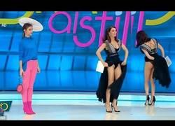 Enlace a Esta presentadora se lleva el susto de su vida al sentir una araña bajo su vestido