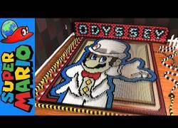 Enlace a Crean un efecto dominó del universo Mario con 148.777 piezas