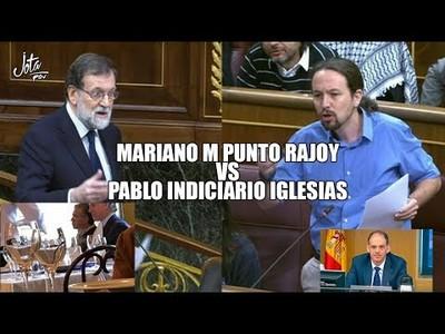 Iglesias TUMBA a M PUNTO Rajoy, que no se libra ni con sorna. Esta vergüenza no la tapa la bandera
