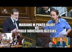 Enlace a Iglesias TUMBA a M PUNTO Rajoy, que no se libra ni con sorna. Esta vergüenza no la tapa la bandera