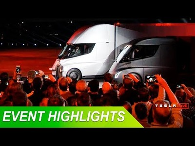 Tesla sorprende al mundo presentando sus camiones y semiremolques