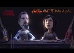 Enlace a Fuego que te van a dar, videoclip animado made in Spain