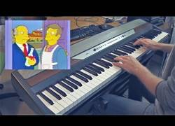 Enlace a Le pone música de piano a esta mítica escena de 'Los Simpson' y el resultado es épico