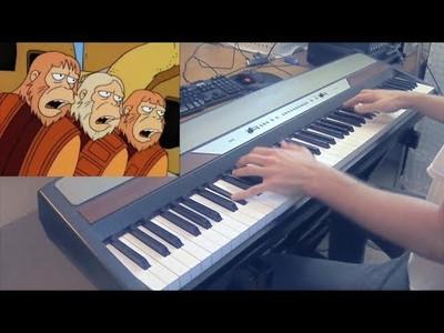 Poniéndole música a ritmo de piano a la mítica canción del Dr. Zaius en Los Simpson