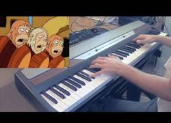 Enlace a Poniéndole música a ritmo de piano a la mítica canción del Dr. Zaius en Los Simpson