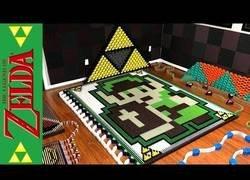Enlace a Crean un efecto dominó del universo Zelda con 21.981 fichas