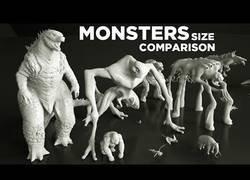 Enlace a Comparación de tamaño entre monstruos de películas