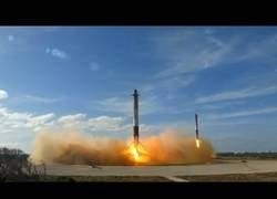 Enlace a HISTÓRICO: Dos Falcon 9 aterrizando a la vez