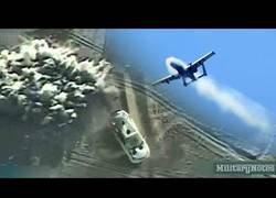 Enlace a El cañón ametralladora A-10 Warthog 30mm ataca a un coche talibán y así lo deja en tan solo 1 segundo
