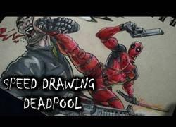 Enlace a Gran dibujo de Deadpool sobre papel