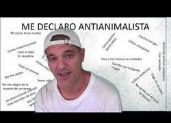 Enlace a Frank Cuesta crea polémica con este vídeo donde se declara antianimalista