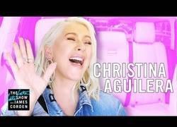 Enlace a Christina Aguilera se sube al Carpool de James Corden y sorprende con su brutal voz