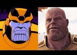 Enlace a La evolución de Thanos en dibujos animados, cine y TV