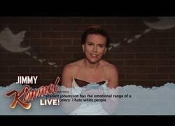 Enlace a Los actores de Infinity War leen en el show de Jimmy Kimmel mensajes ofensivos de sus haters