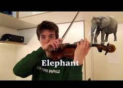 Enlace a Este tío interpreta el sonido de varios animales con su violin