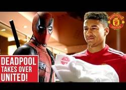 Enlace a Deadpool ficha por el Manchester United en este brillante spot