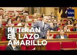 Enlace a Un taberniano retira un lazo amarillo en el Parlament y la lía parda