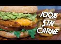 Enlace a HAMBURGUESA 100% vegetariana sin nada de carne