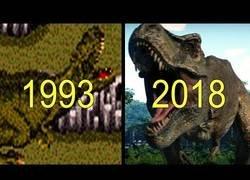 Enlace a Evolución de los juegos de Parque Jurásico