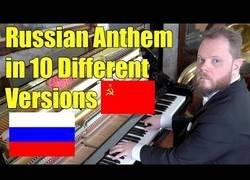 Enlace a 10 versiones del himno ruso a piano