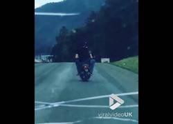 Enlace a Iban totalmente borrachos montados en una moto hasta que una vaca se les cruzó en el camino