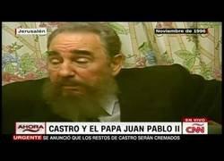 Enlace a Interesante entrevista a Fidel Castro sobre su reunión con Juan Pablo II, realizada por el español José Levy