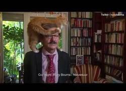 Enlace a Este historiador polaco estaba dando una entrevista a la televisión holandesa cuando un gato hizo de las suyas