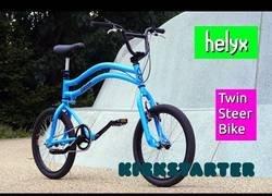 Enlace a Inventan la bicicleta Helyx que funciona en las dos direcciones